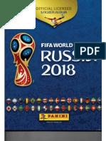 Album Panini Mundial 2018 Rusia