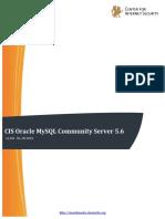 CIS Oracle MySQL Community Server 5.6 Benchmark v1.0.0