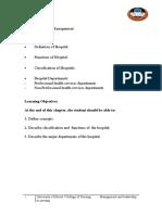 Hospital Def n Management