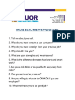 Fluor Online Interview Form