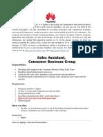Sales Assistant Device