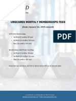 UnScared Monthly Memberships Fees 2019