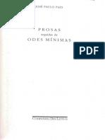 PAES, José Paulo. Odes Minimas