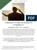 o Messias e o Filho de Homem No Evangelho (i)