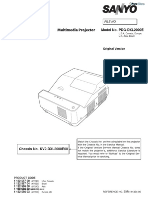 Sanyo Pdg-dxl2000 Service Manual | Fuse (Electrical