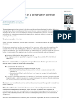 Employer Termination of a Construction Contract