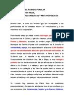 Intervención Ordenanzas fiscales y precios pùblicos.
