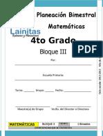 4to Grado - Bloque 3 - Matemáticas