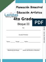 4to Grado - Bloque 3 - Educación Artística