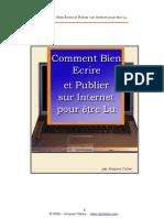 Comment Ecrire Et Publier Sur Internet