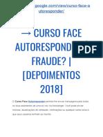 → Curso Face Autoresponder Fabio Vasconcelos Funciona? É bom?? Resultados!!
