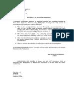 Affidavit of Acknowledgement Paternity