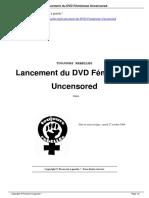Lancement Du DVD F Minisme Uncensored a3948