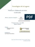 Laboratorio Integral 3.- Práctica 4.- Elaboración de Leche Condensada