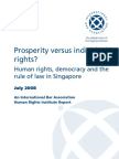 Human rights, democracy and the rule of law in Singapore