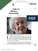 La Jornada_ Ida Vitale en México_ Bienvenida