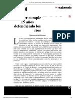 La Jornada_ Mapder Cumple 15 Años Defendiendo Los Ríos