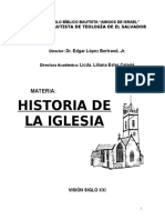 folleto historia de la iglesia