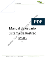 Manual de Usuario Sistema de Rastreo MS03