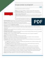 ¿De qué partes tiene que constar un proyecto.pdf