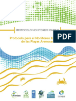 Monitoreo Ecológico Protocolo-PRONAMEC-Playas Arenosas