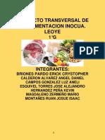 Proyecto Transversal de La Alimentacion Inocua