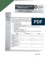 Ejercicios Para Imprimir Implementación y Evaluación Administrativa 1 4 Trimistre 2018