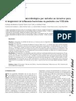 Utilidad del estudio microbiológico por metodos no invasivos para diagnostico de neumonia bacteriana en pacientes con VIH