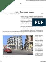 Como Tirar o Visto Para Cuba Passo a Passo