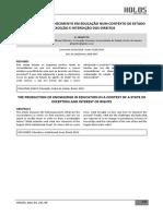 Frigotto. a Produção Do Conhecimento Em Educaçao Num Contexto de Estado de Exceçao e Interdição Dos Direitos
