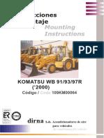 Komatsu WB's R-2 Montaje A/C Dirna