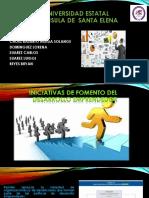 Iniciativas de Fomento Del Desarrollo Emprendedor