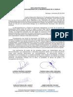 Declaración Pública Fentramuch - Municipalidad de Lo Espejo