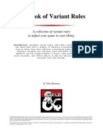 The Big Book of Variant Rules