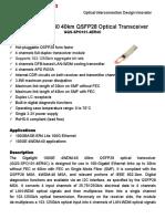 GQS-SPO101-4ER4C2 (Módulo Transceptor QSFP) Datasheet