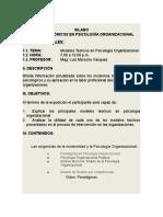 Modelos Teóricos en Psicología Organizacional_SILABO
