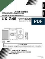 Manual Jvc Ux-g45
