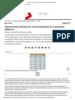 Aplicaciones Exitosas de Nanocompuestos en Empaques Plásticos