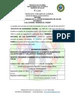 Semana de la Juventud municipio de Colón