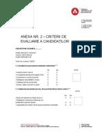 Anexa Nr. 2 – Criterii de Evaluare a Candidaților (1)