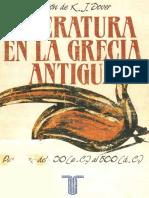 Kenneth James Dover, Ewen L. Bowie, Jasper Griffin & Martin Litchfield West, Literatura en la Grecia antigua