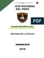 Ets-silabus - Historia de La Pnp 2018