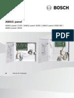BOSCH AMAX panel family Installation Manual PT