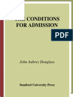 The conditions for admission