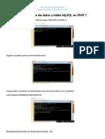 Crear La Base de Datos y Tabla MySQL en PHP 7