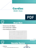 Cardiac NCLEX Points