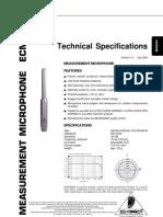 ECM8000 Especificaciones