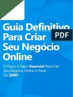 E-book Guia Definitivo Para Criar Seu Negócio Online - Atualizado (Meu Link)
