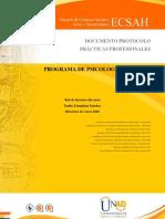 Protocolo Practicas Profesionales 2018
