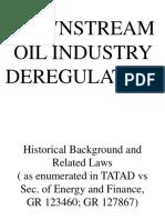 Downstream Oil Industry Regulation